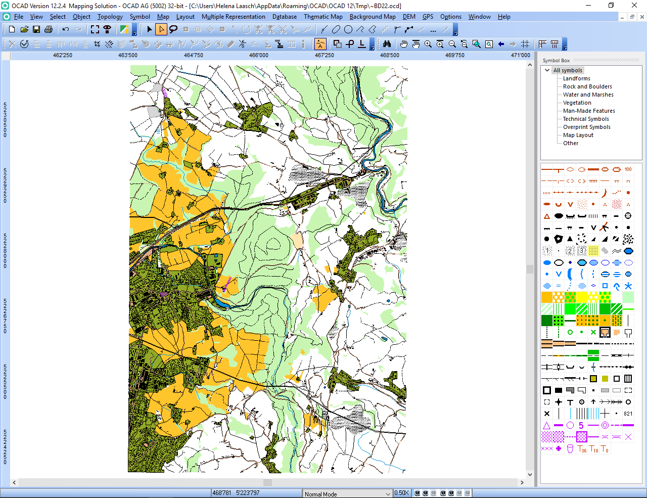 Ocad 12 orienteering ocad blog wait a few minutes and you will get shown the imported openstreetmap data with isom 2017 symbols perhaps you have to delete some huge areas that cover the biocorpaavc