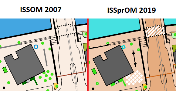 Comparison ISSOM 2007 and SSprOM 2019