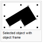 Selected object with object frame