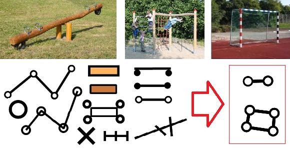 Symbolsatz für Schulhaus-Kartenr