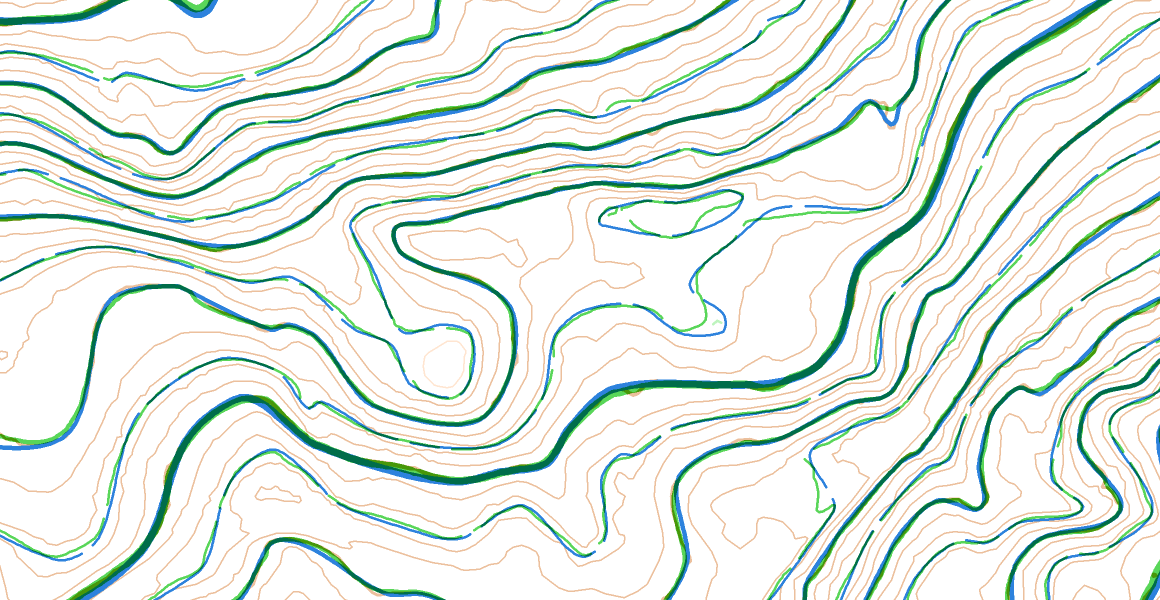 Smoothed Contours